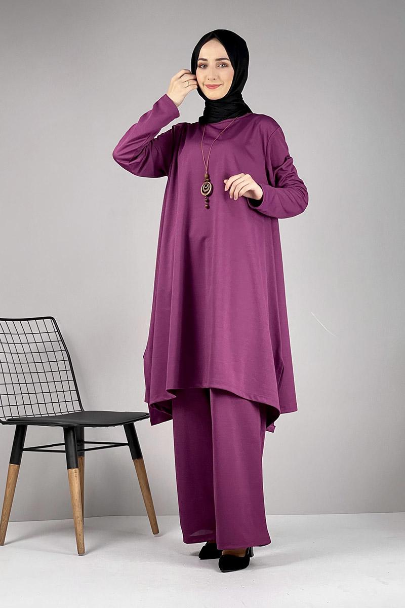 Moda Pinhan - Salaş Tesettür Takım Mürdüm (1)