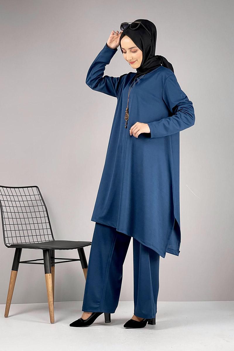 Moda Pinhan - Salaş Tesettür Takım Petrol (1)