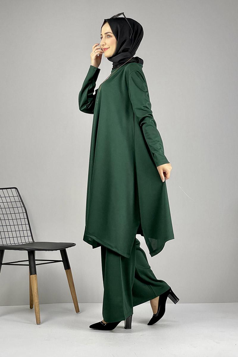Moda Pinhan - Salaş Tesettür Takım Zümrüt (1)