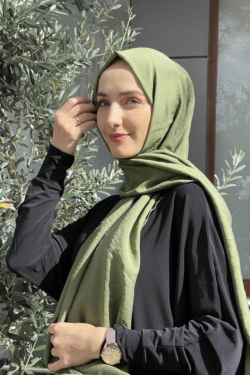 Moda Pinhan - Tensel Şal Haki (1)