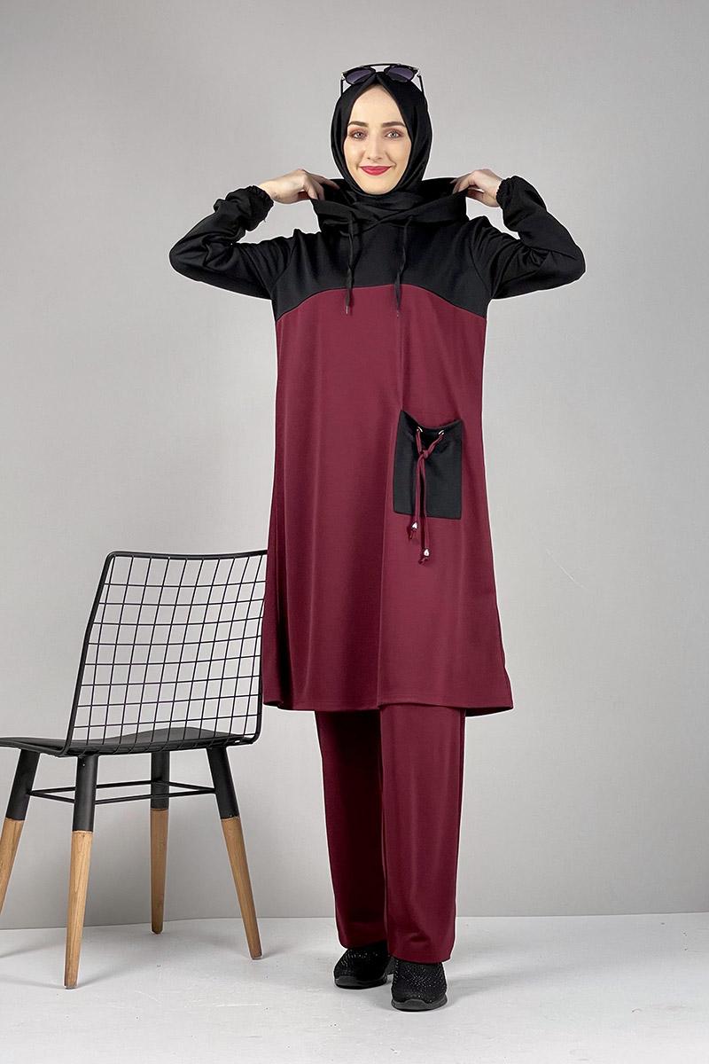 Moda Pinhan - Tesettür İkili Takım Bordo (1)