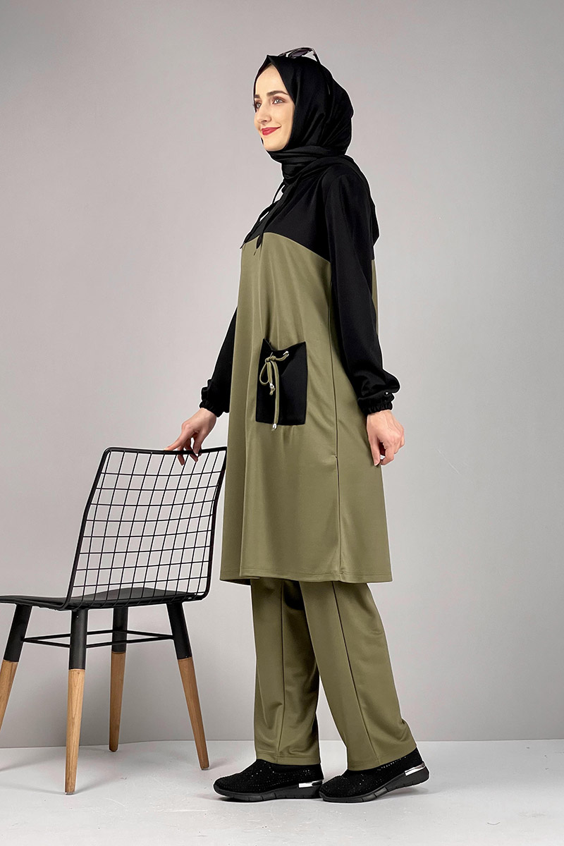 Moda Pinhan - Tesettür İkili Takım Yeşil (1)