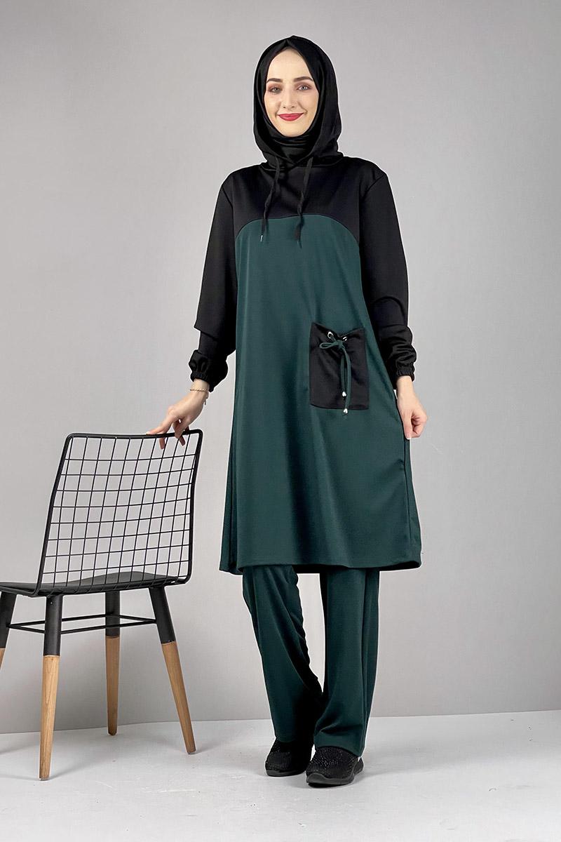 Moda Pinhan - Tesettür İkili Takım Zümrüt (1)