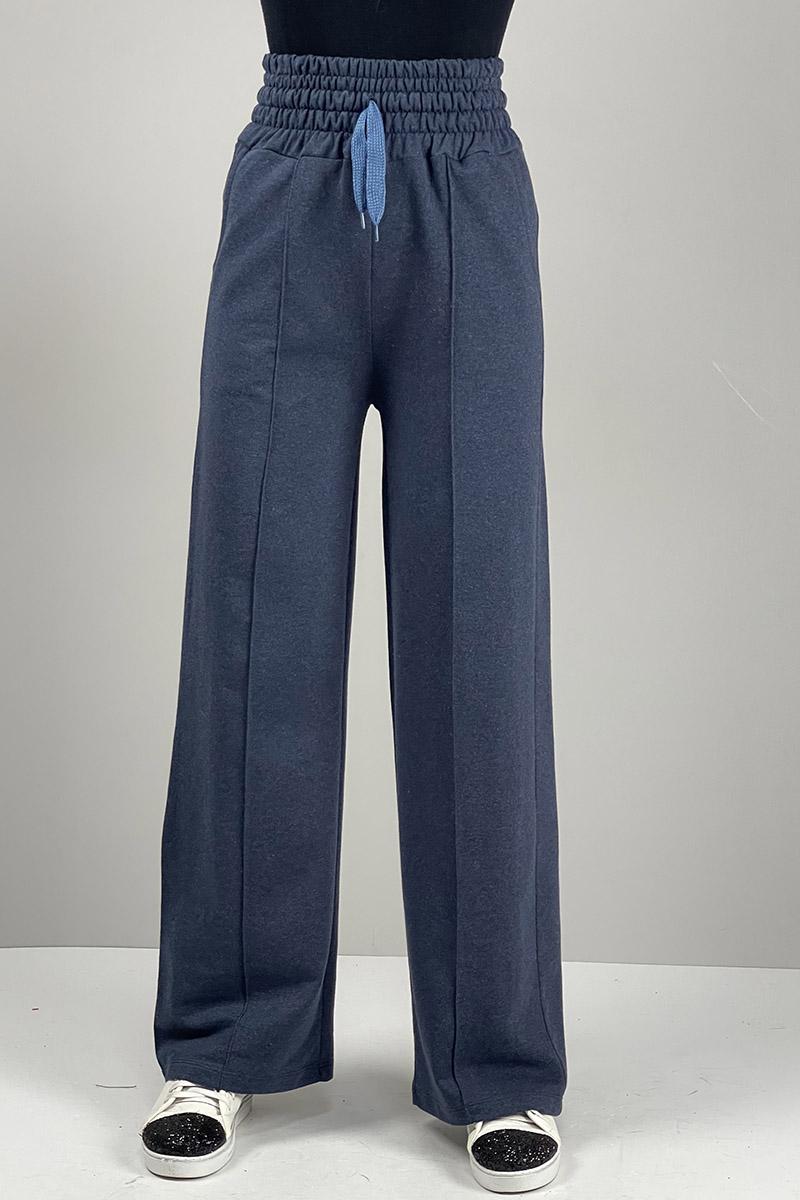 Moda Pinhan - Yüksek Bel Pantolon İndigo (1)